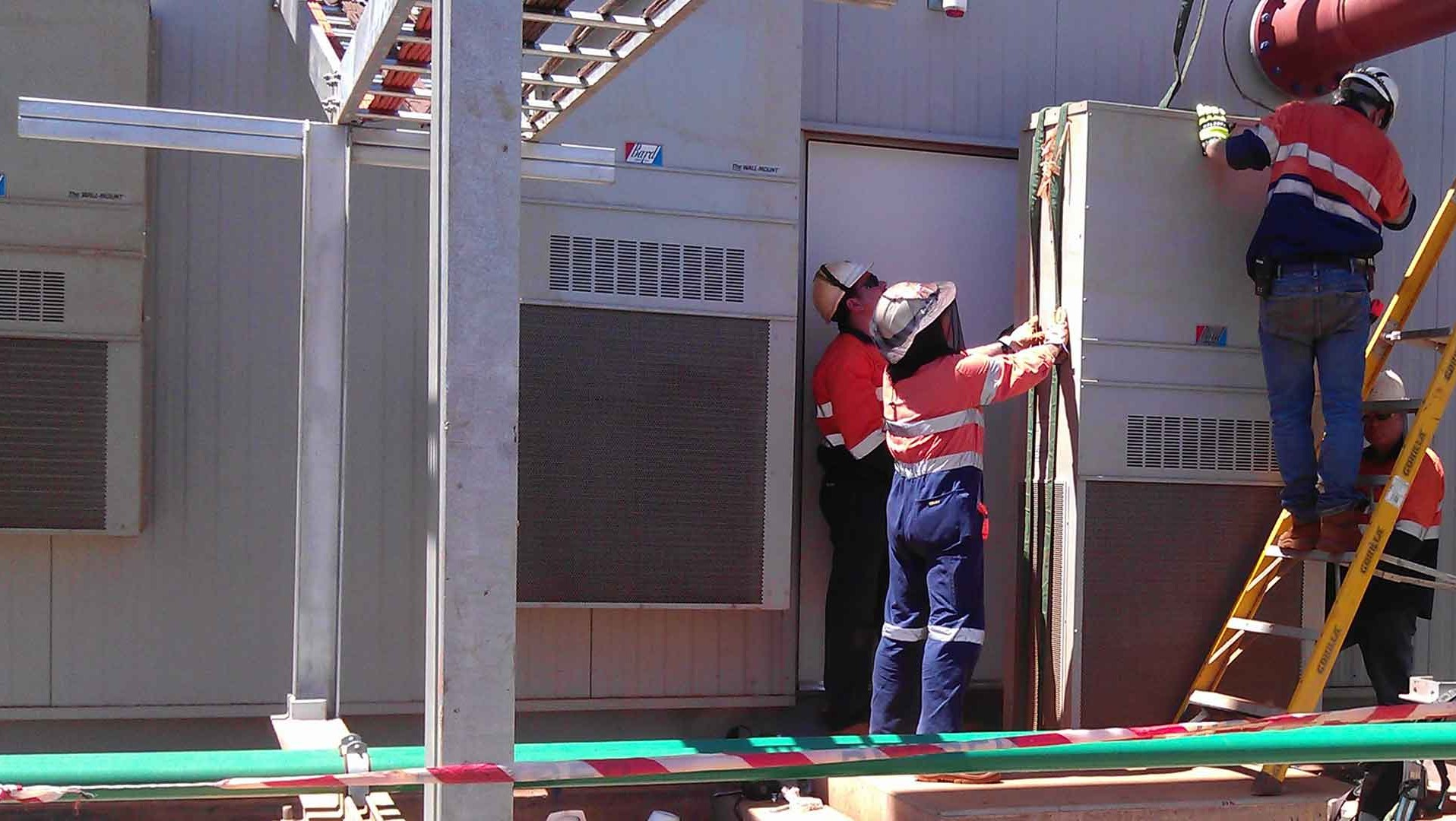 picture of workers outdoors
